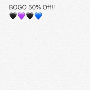 BOGO 50% off! All items!